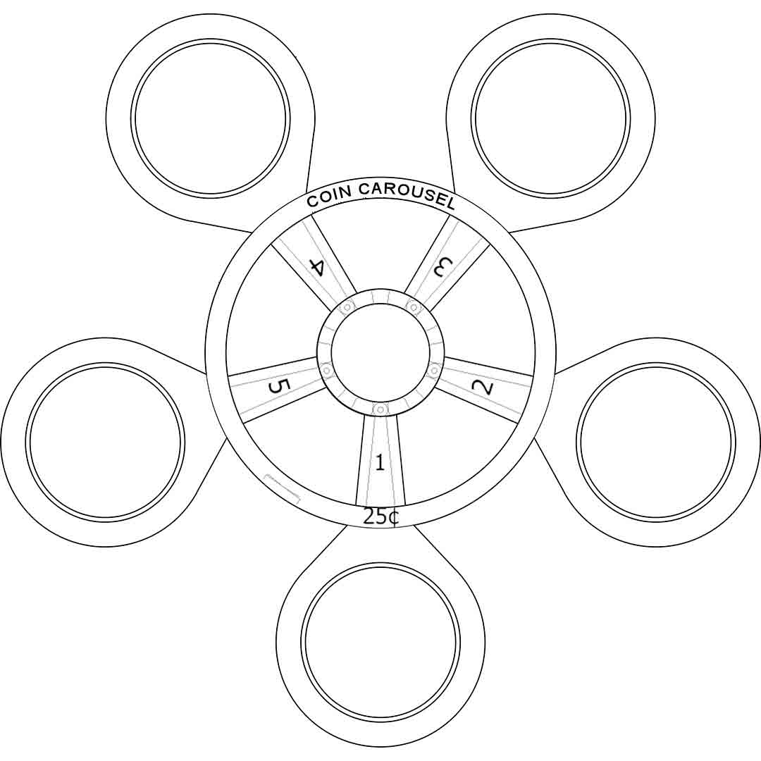 Coin Carousel_Top View_Line Drawing