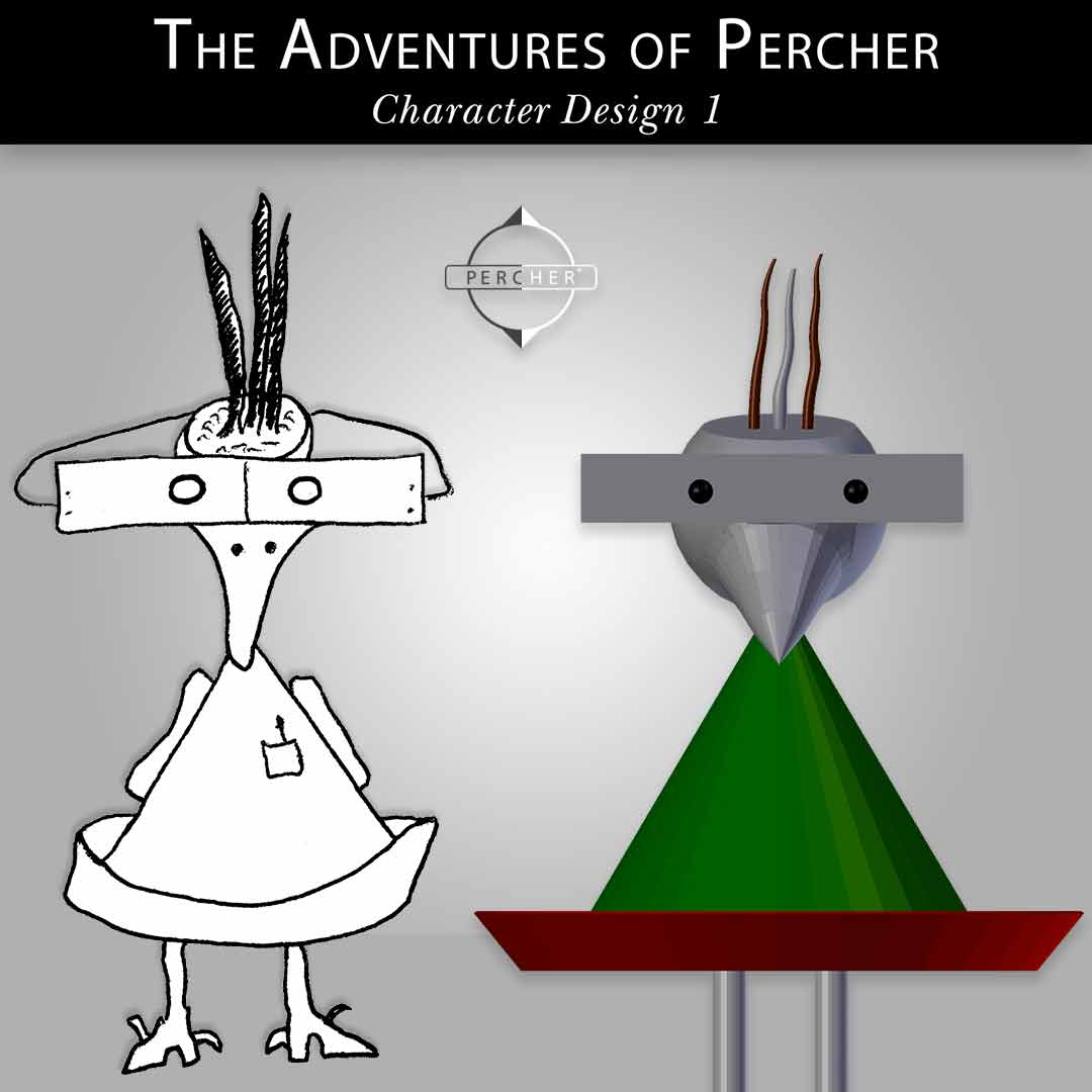 Percher Character Design